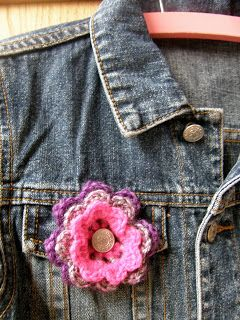 handysandy: Bloemen haken voor Pink Ribbon