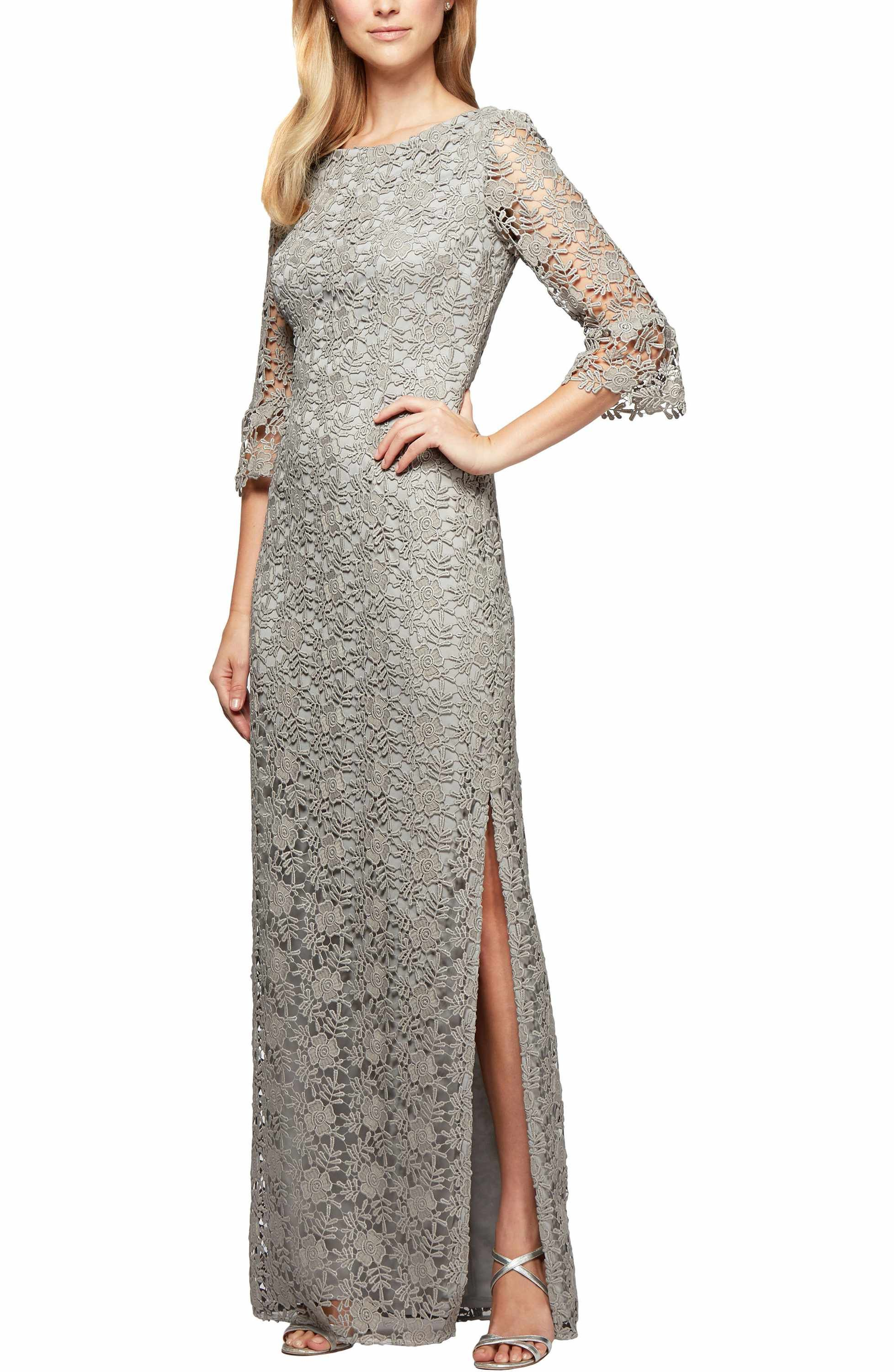 41636f75ce1c6e Main Image - Alex Evenings Embroidered Lace Gown | MOB in 2019 ...
