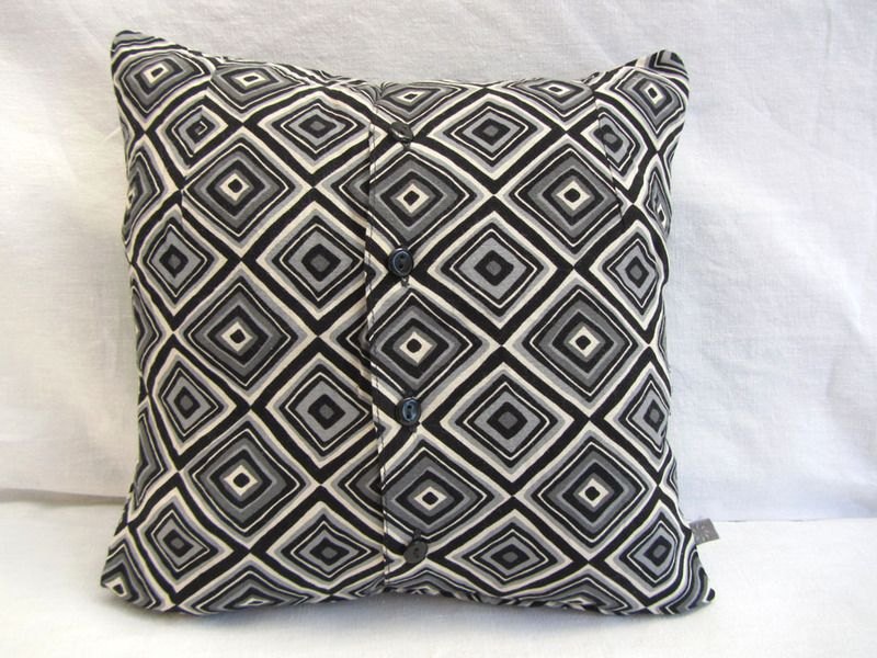 upcycling ideas: upcycle button up shirts into cushions / pillows