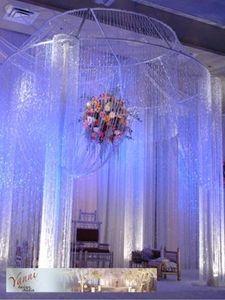 buy crystal curtains for chuppahs - Google Search