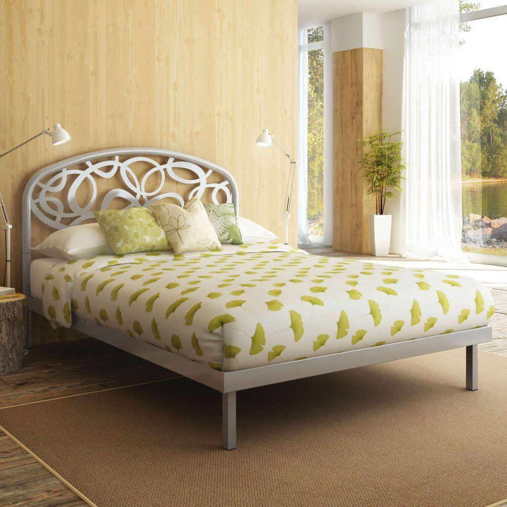 Amazon.com: Amisco Alba Metal Platform Bed, Queen Size 60\