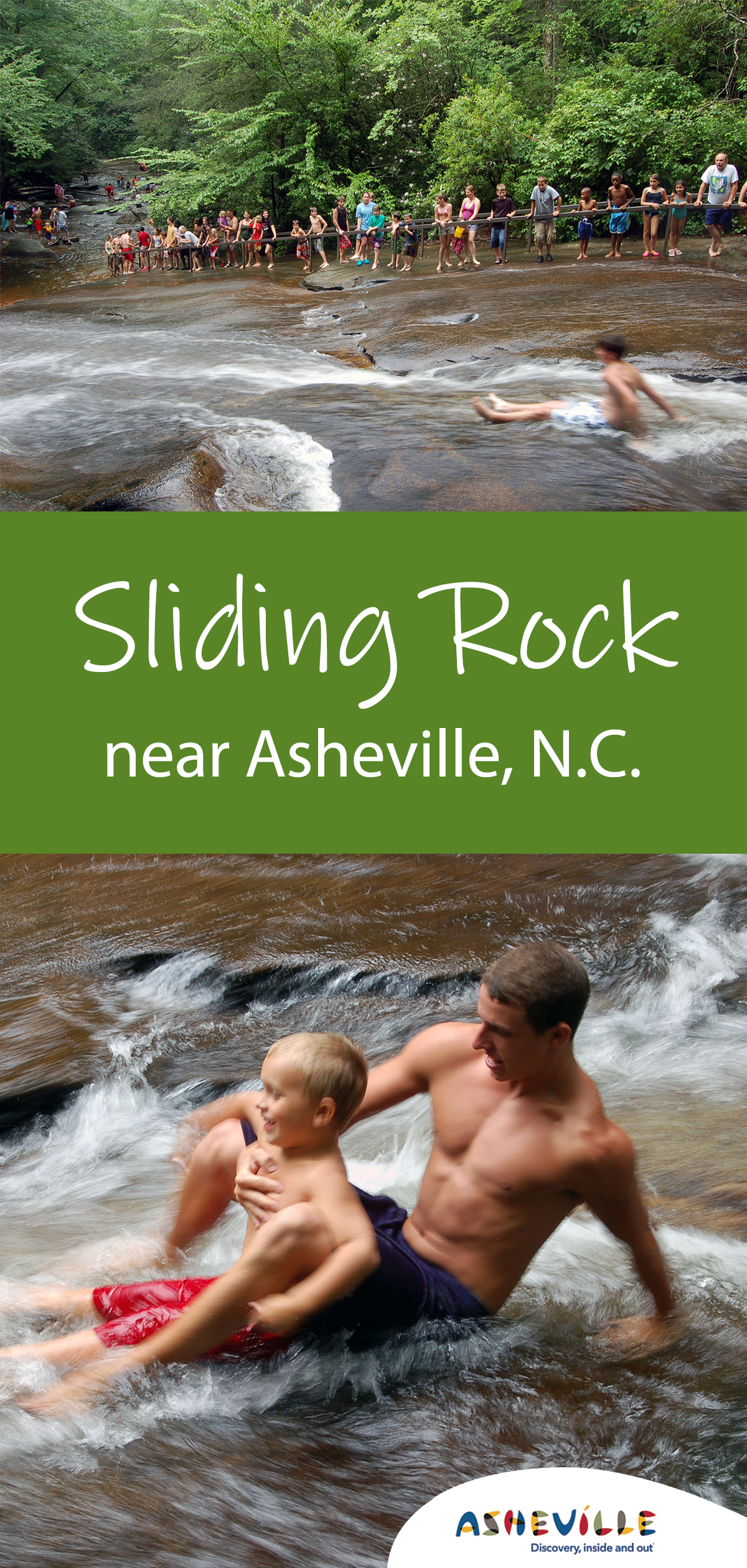 Sliding Rock near Asheville, N.C.