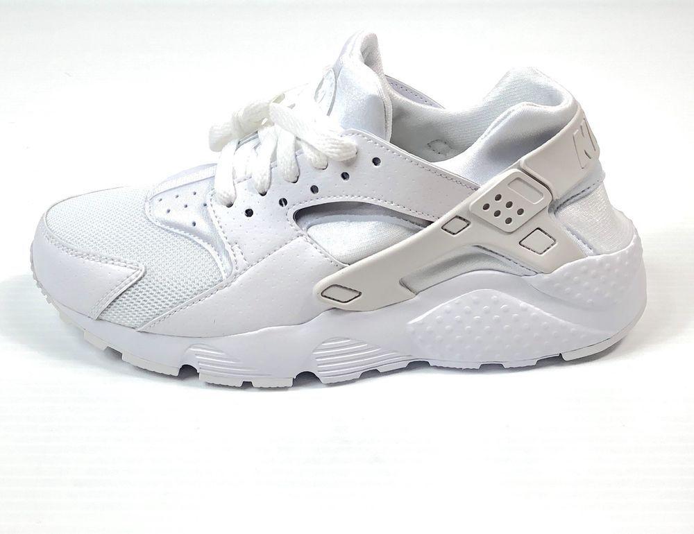 d284419573822 Nike Size 6.5Y Huarache Run (GS) Big Kid Shoes 654275-110 White Platinum  826215363996