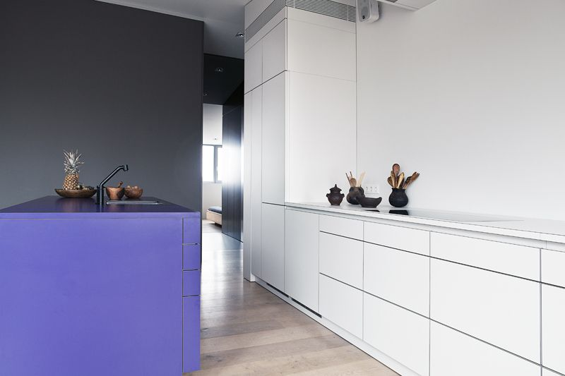 küche mit mittelblock und einbauschrank | systemschrank | pinterest - Küche Mittelblock