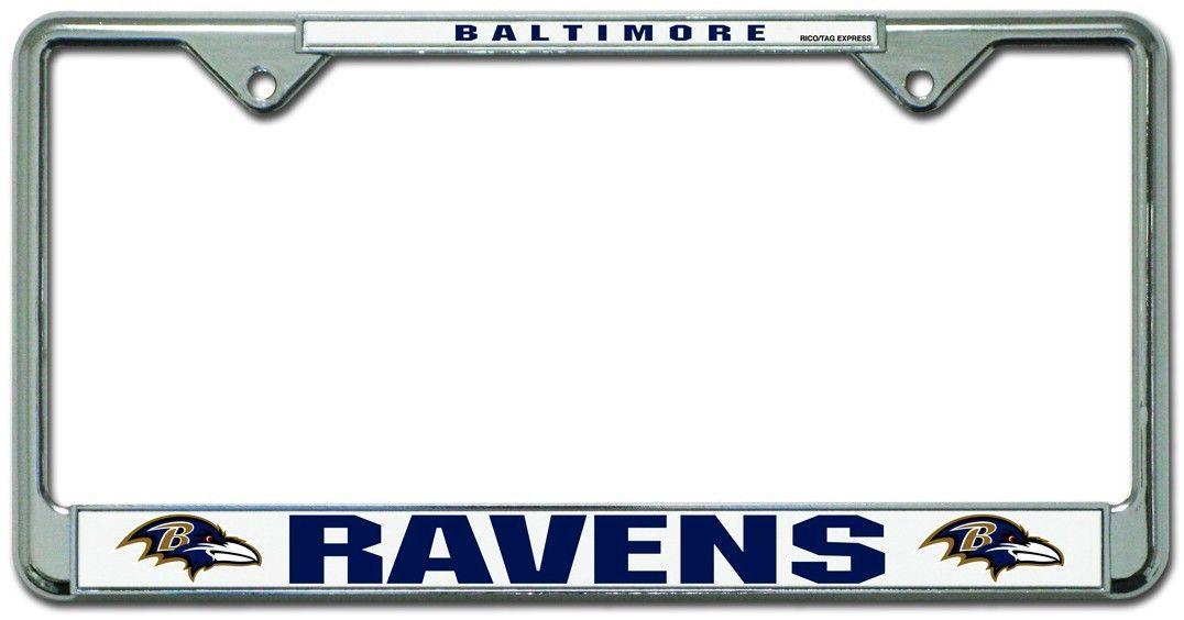 Baltimore Ravens Chrome License Plate Frame - Old Style (backorder ...