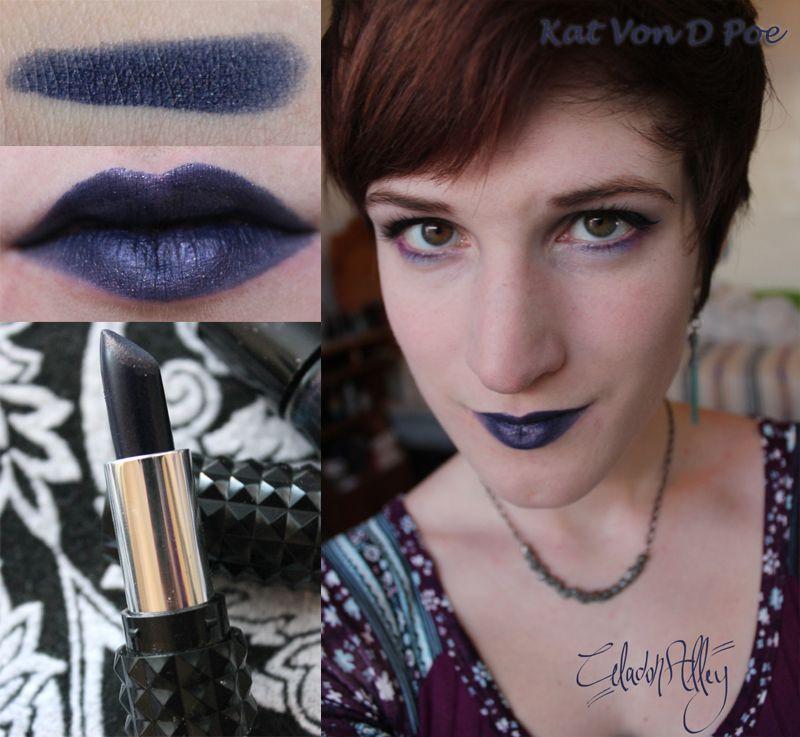 Celadon Alley: Kat Von D Studded Kiss Lipstick in Poe | Celadon ...