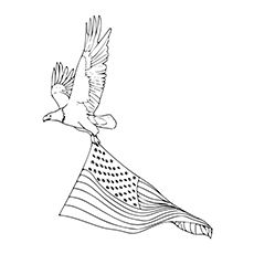 Coloring Pages Of Eagle Carrying On 4th Of July A Stencil