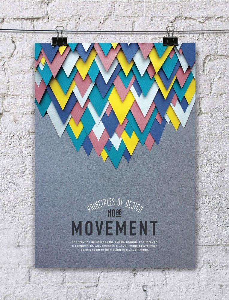 Space Principle Of Design : Paper art principle of design poster series balance