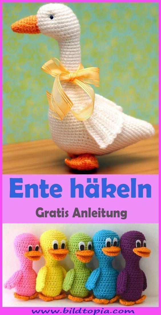 Photo of Ente häkeln kostenlose & einfache Anleitung #tejidos Du möchtest eine sü #An …