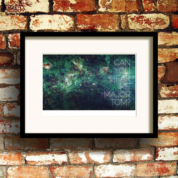 Hey, I found this really awesome Etsy listing at https://www.etsy.com/listing/96232318/space-oddity-print-a4-giclee-print