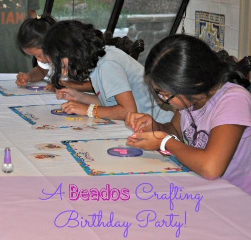 What girl wouldn't love a craft birthday party? Beados Craft Birthday Party! - MomOf6