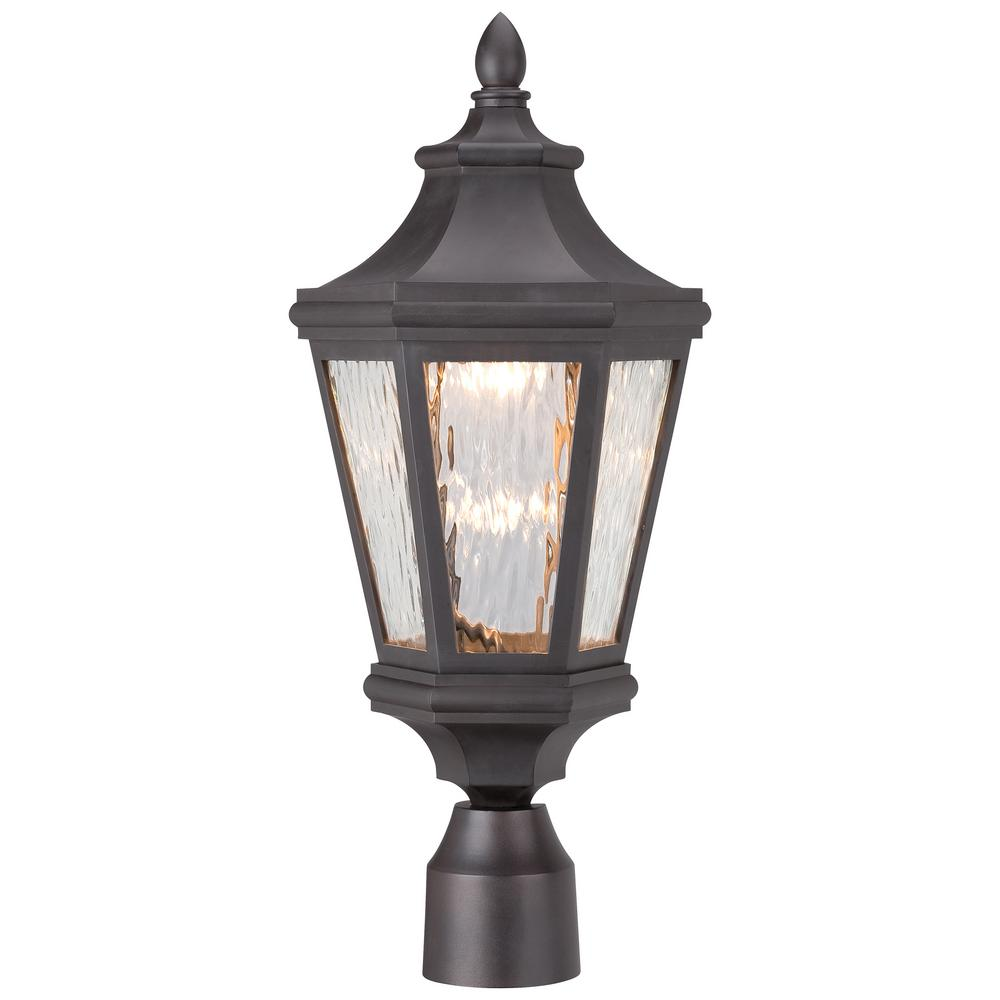 The Great Outdoors By Minka Lavery Hanford Pointe Outdoor Oil Rubbed Bronze Integrated Led Lamp Post With Mount 71826 143 L The Home Depot In 2020 Outdoor Post Lights Post Lights Led Post Lights