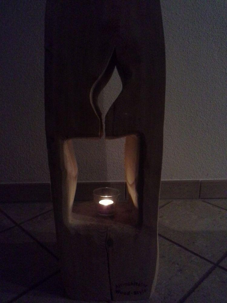 nr 9 baumstamm kiefer 89cm x 25cm x 22cm deko s ule holz. Black Bedroom Furniture Sets. Home Design Ideas