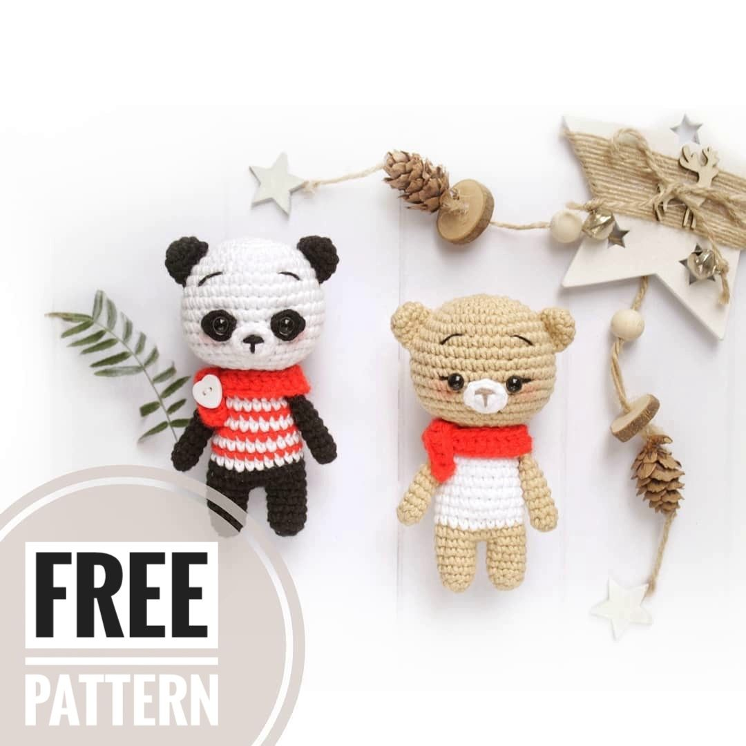 FREE amigurumi panda and bear pattern