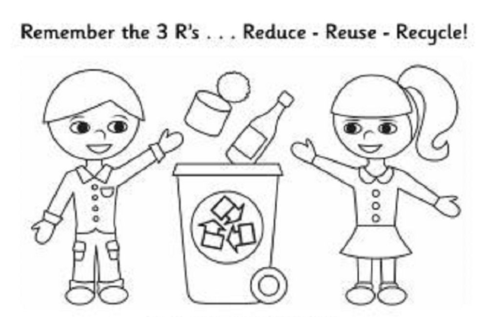Earth Day Recycling Coloring Pages
