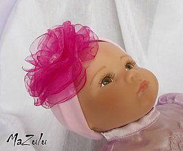 Detské doplnky - čelenočka v ružovomCyklámene - 4817770_