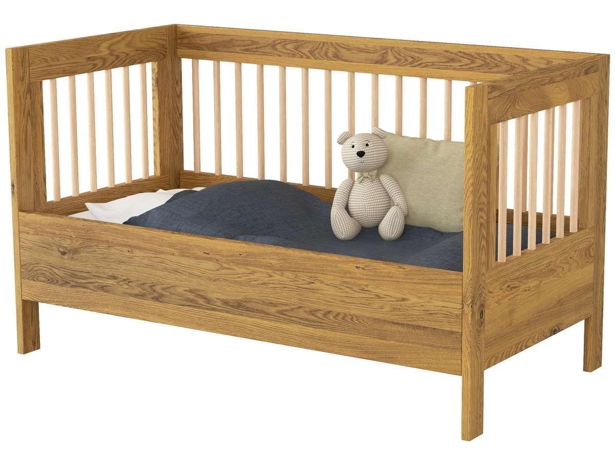 Funktions Kinderbett paula als kinderbett umgebaut mit optionalem seitenteil funktion