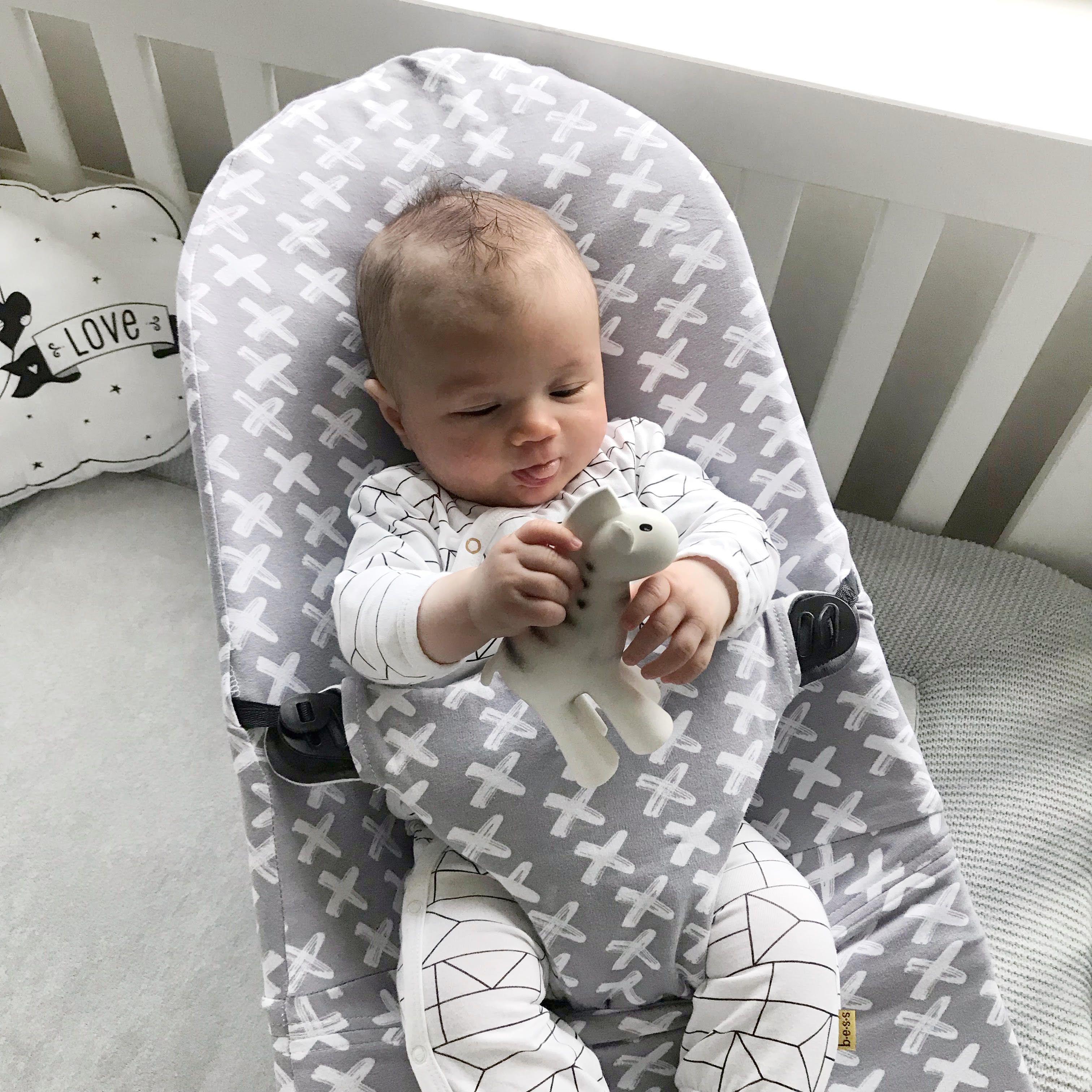 Babybjorn Bezug Grau Kreuze Letzte Stucke Baby Bjorn Baby Wippe Wippe