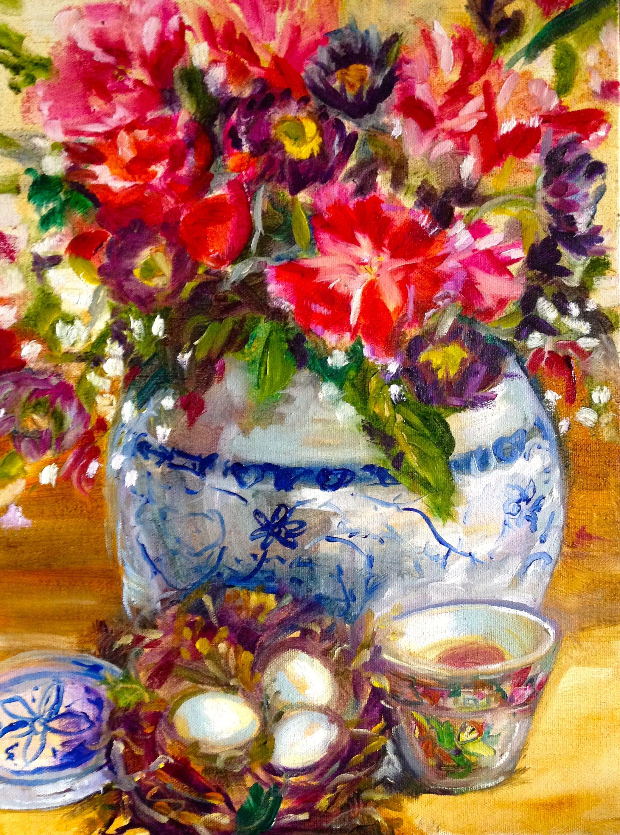 Happy Birthday Painting Table Decorations Decor