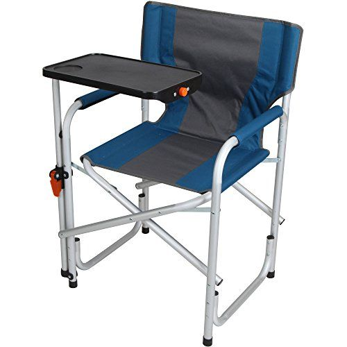 Pleasant Aluminum Directors Chair With Swivel Desk Blue You Can Uwap Interior Chair Design Uwaporg