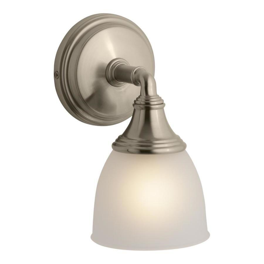 KOHLER Devonshire 4.9375-in W 1-Light Vibrant Brushed ... on Bathroom Sconce Lights Brushed Bronze id=91218