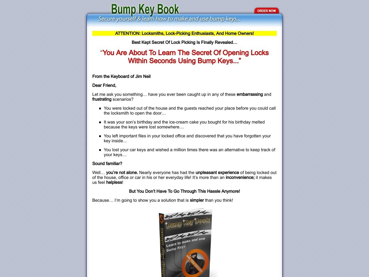 ① Bump Key Book - Open Anything - http://www.vnulab.be/lab-review/%e2%91%a0-bump-key-book-open-anything