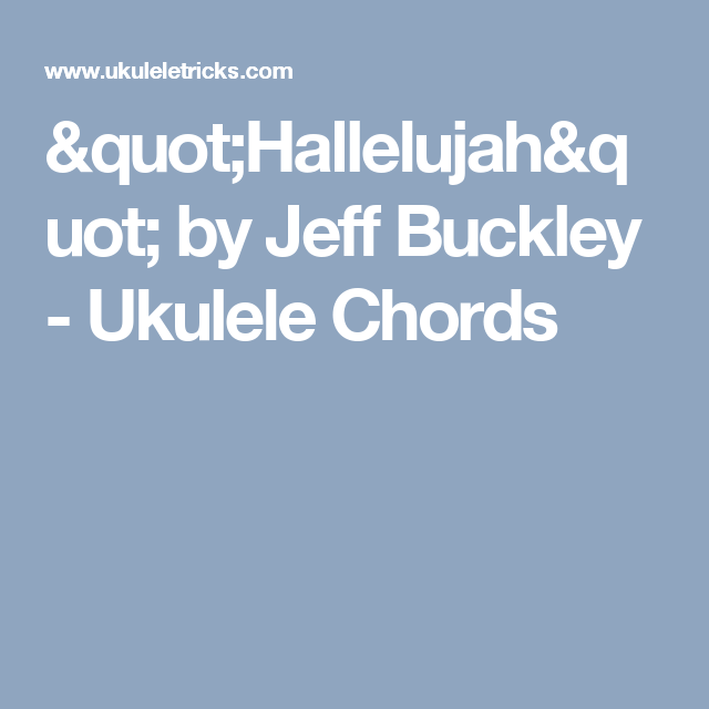 Hallelujah Jeff Buckley Chords Image Collections Chord Chart