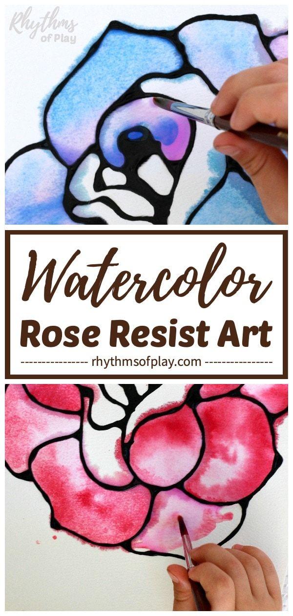 Black Glue And Watercolor Resist How To Make Black Elmer Sglue