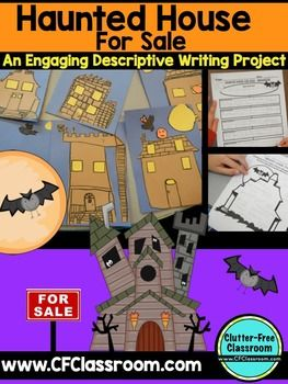 HALLOWEEN WRITING ACTIVITY: HAUNTED HOUSE FOR SALE {Desriptive Writing & Craft}Halloween Writing Activity: Haunted House for Sale {Descriptive Writing and Craft} Are you looking for a fun, engaging, and creative way to teach descriptive writing?This top-selling packet is perfect for elementary students in grade 2-5 because it includes differentiated printables that will make it easy for you to teach your students about descriptive writing.