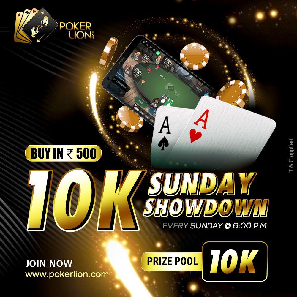10K Sunday Showdown Online poker, Money games, Poker