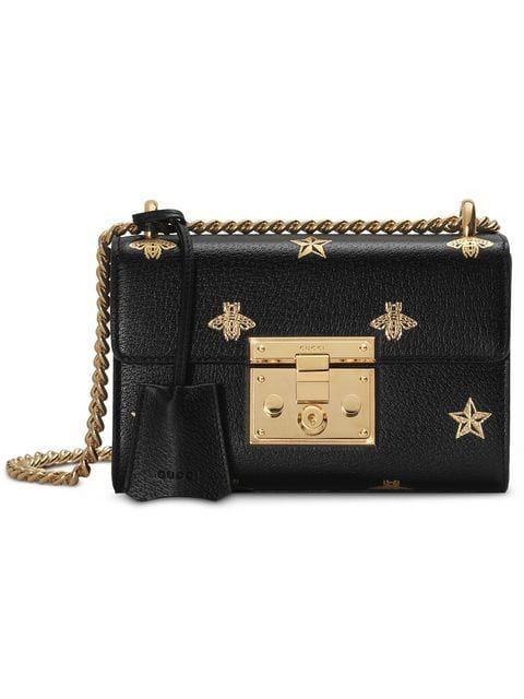 848caaddb521 Gucci Padlock medium GG shoulder bag 479197 Black | Luxury Handbags in 2019  | Gucci padlock, Medium bags, Gucci