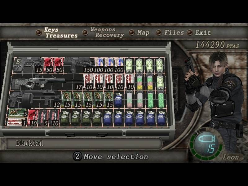 Resident Evil Inventory User Interface | design/video game UI
