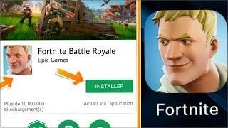 comment installer fortnite sur android