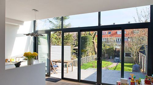 Uitbouw met glas - Woonkamer | Pinterest - Met, Ramen en Deuren