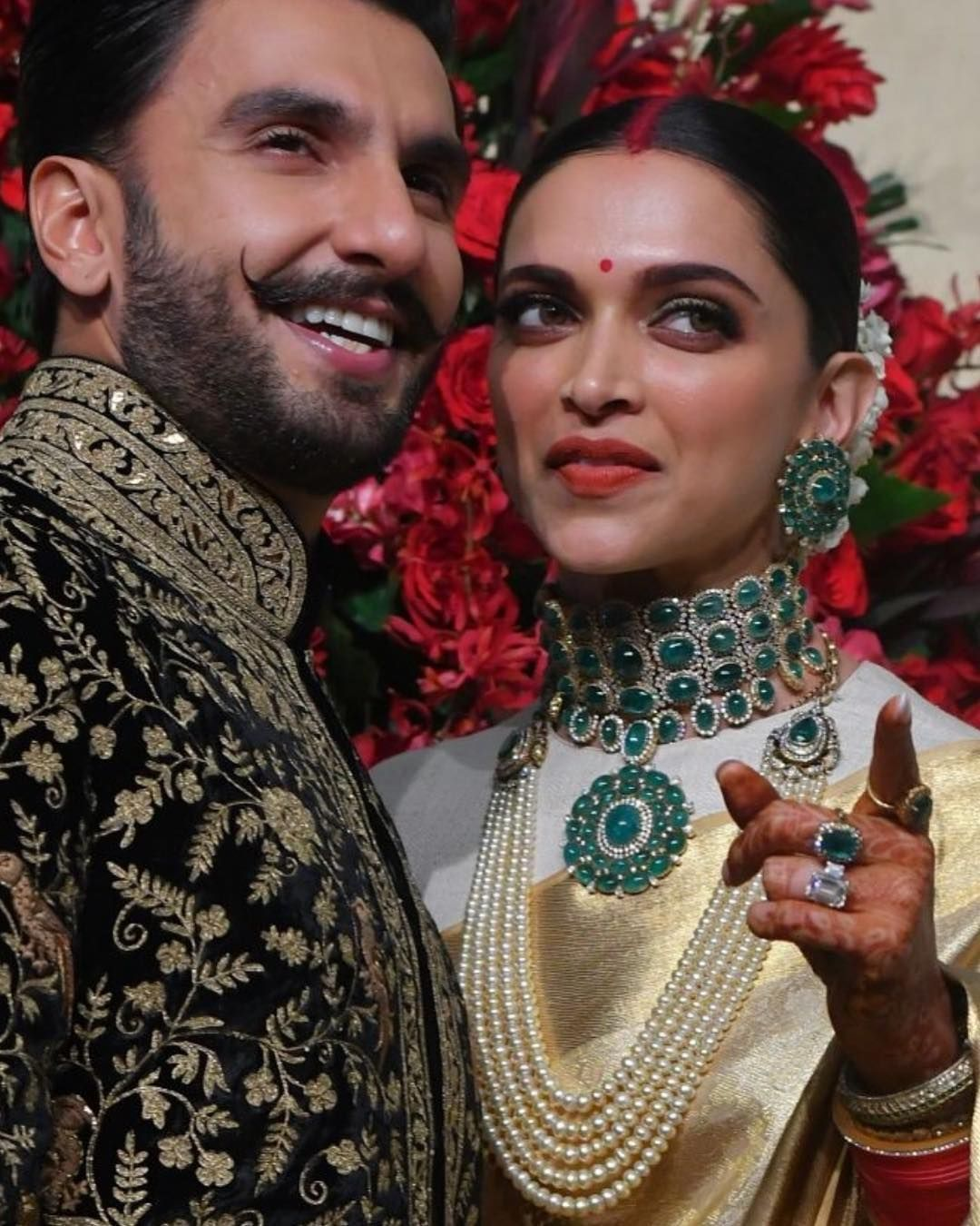 A Fashionista S Diary On Instagram Ranveersingh In Rohitbalofficial Styled By Nitashagaurav Celebrity Jewelry Bollywood Wedding Deepika Padukone Style