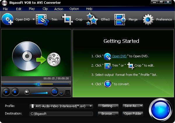 Convert Vob To Avi Mpeg Or Mpg Video Formats Converter Dvd Movies Dvd