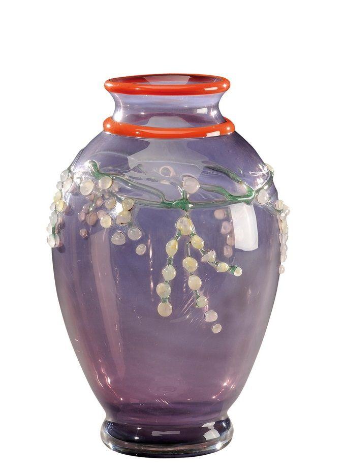 DAUM NANCY A rare applied decoration glass vase. Signed in intaglio «Daum Nancy…