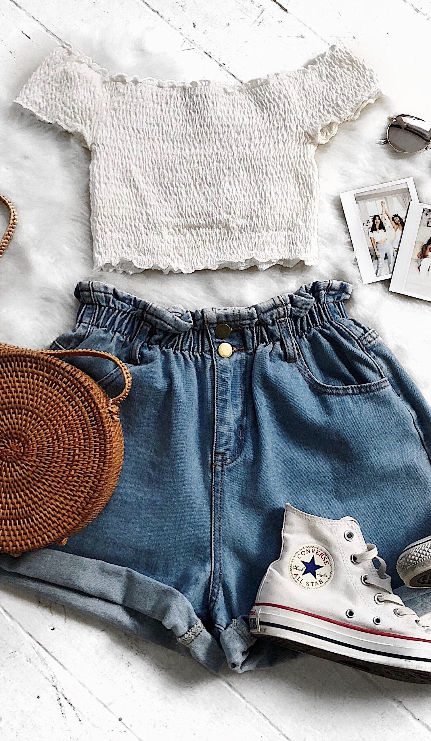 We're loving these denim shorts! #outfitswithshorts