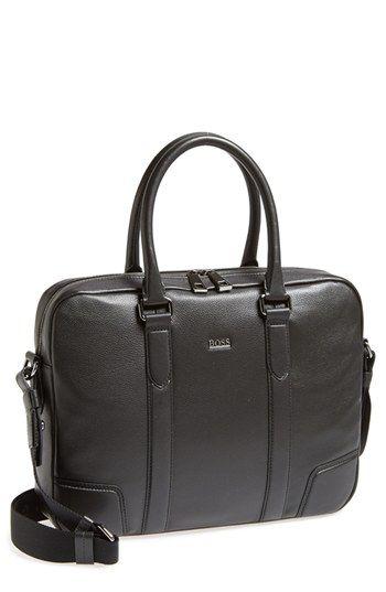 Boss Hugo Morval Leather Work Bag