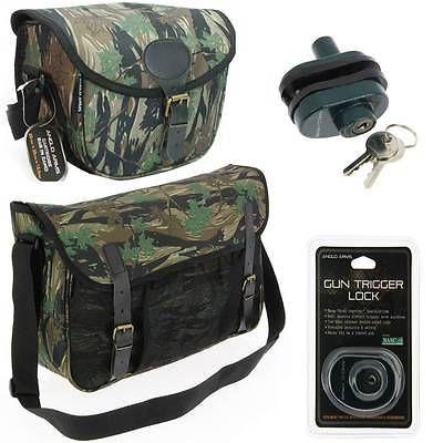 New camo game bag + 1  cartridge bags +  trigger lock  shotgun hunting