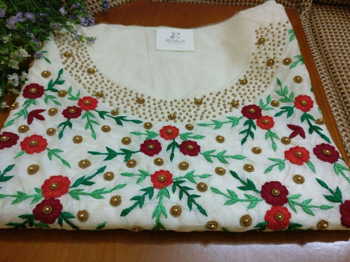 Pin by anu mahi on dress materials pinterest embroidery blouse designs dress designs hand embroidery embroidery designs beaded embroidery indian outfits indian wear design patterns dress patterns bankloansurffo Images