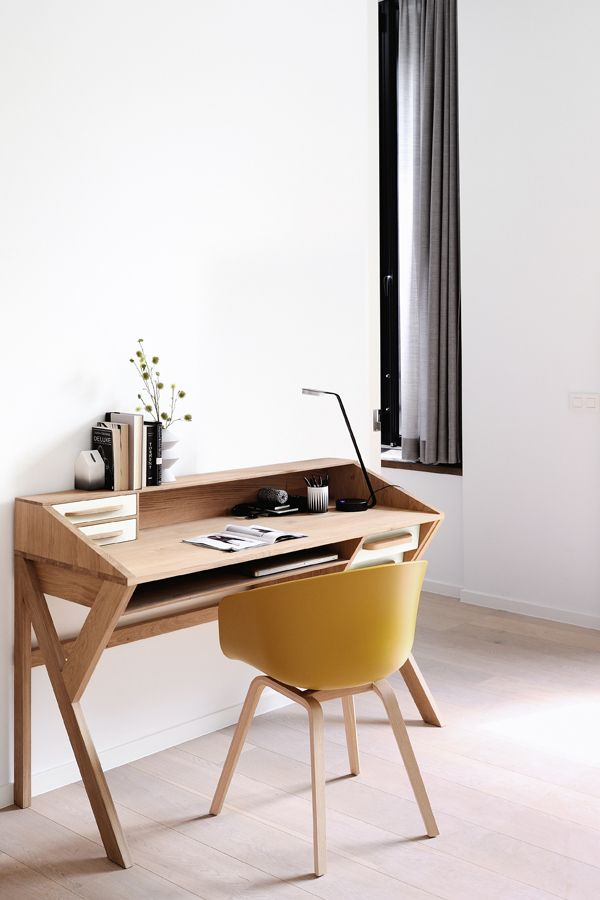 i really like the simplicity of this little home office set up meubles belgique