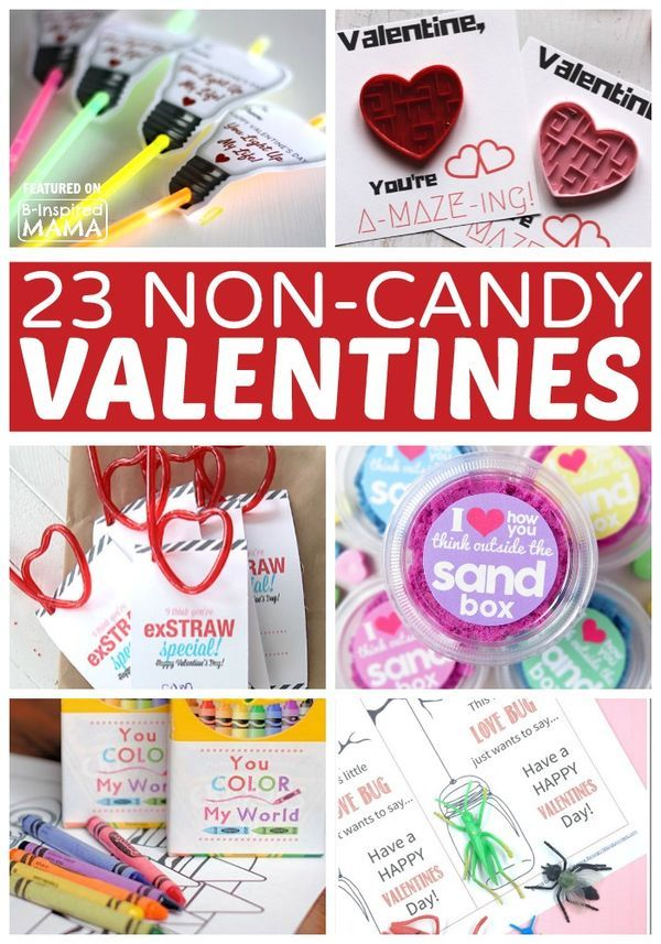 I love this craft ideas for Valentine's day! Nothing beats a diy gift. 23 Cute Non-Candy Valentine Ideas for Kids - at B-Inspired Mama.
