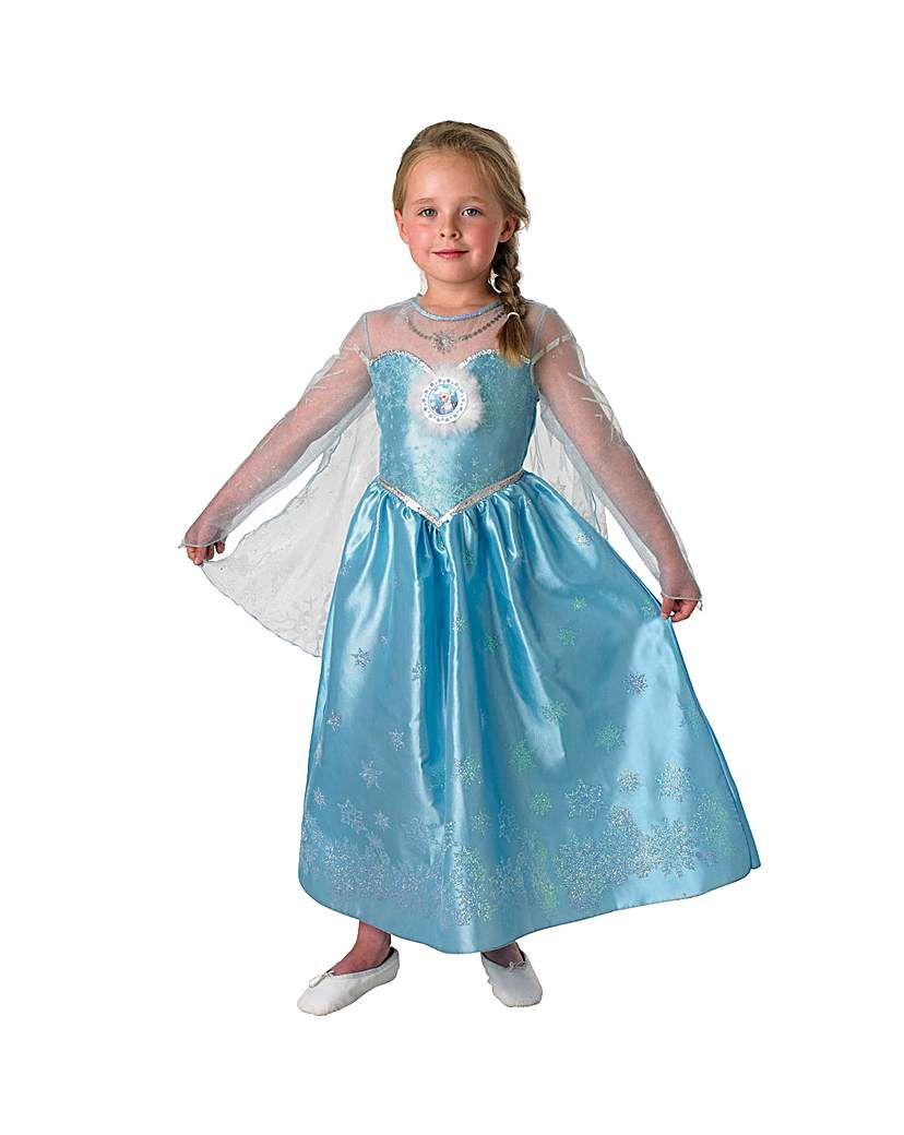 SPECIAL OFFER DISNEY FROZEN FEVER ANNA DELUXE SNOW QUEEN FANCY DRESS COSTUME 7//8