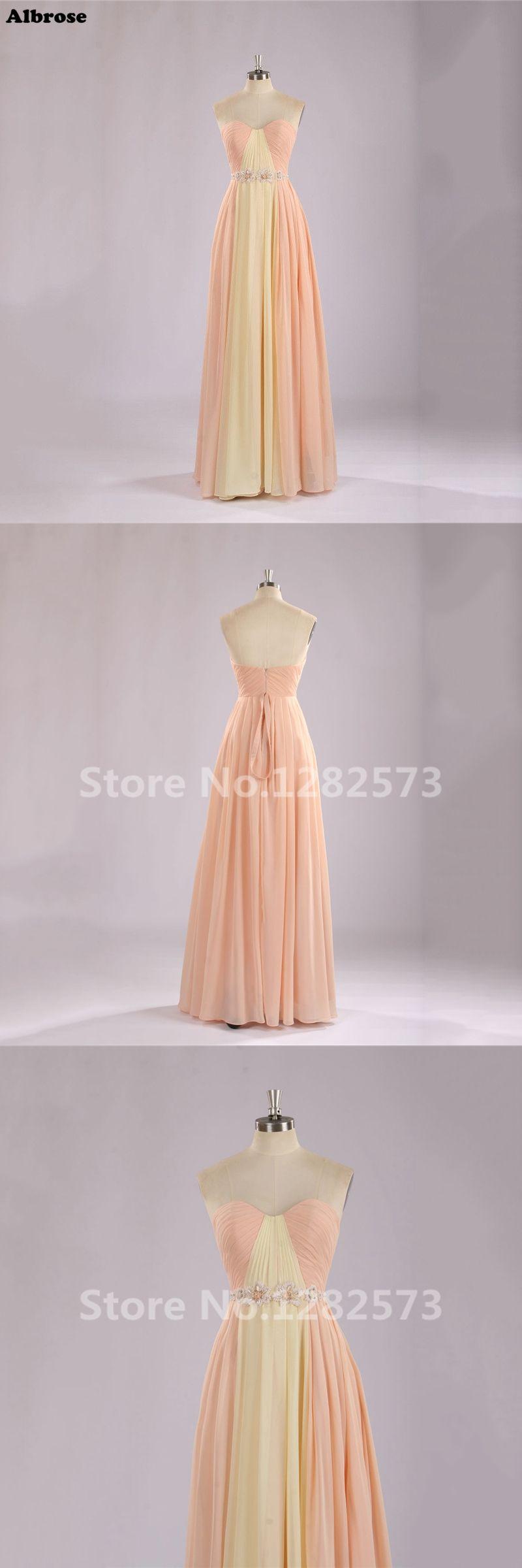 Cheap simple evening dress beaded chiffon contrast color evening
