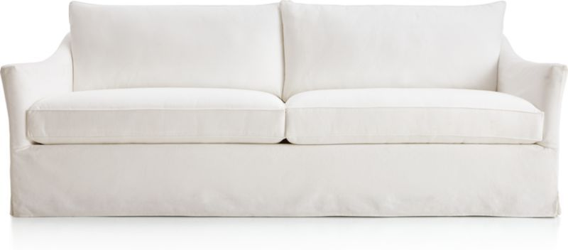 Keely Slipcovered Sofa Reviews Crate And Barrel Slipcovers