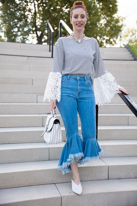 Shopping Queen Motto Streifenshirt, Trendige Styling