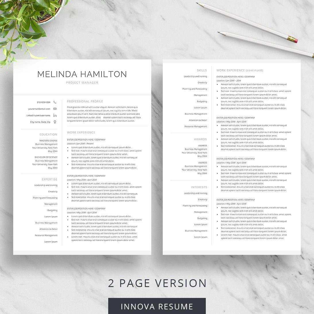 Basic Resume Template For Word Innova Resume Modern Resume Templates Executive Resume Template Simple Resume Template Resume Template Word
