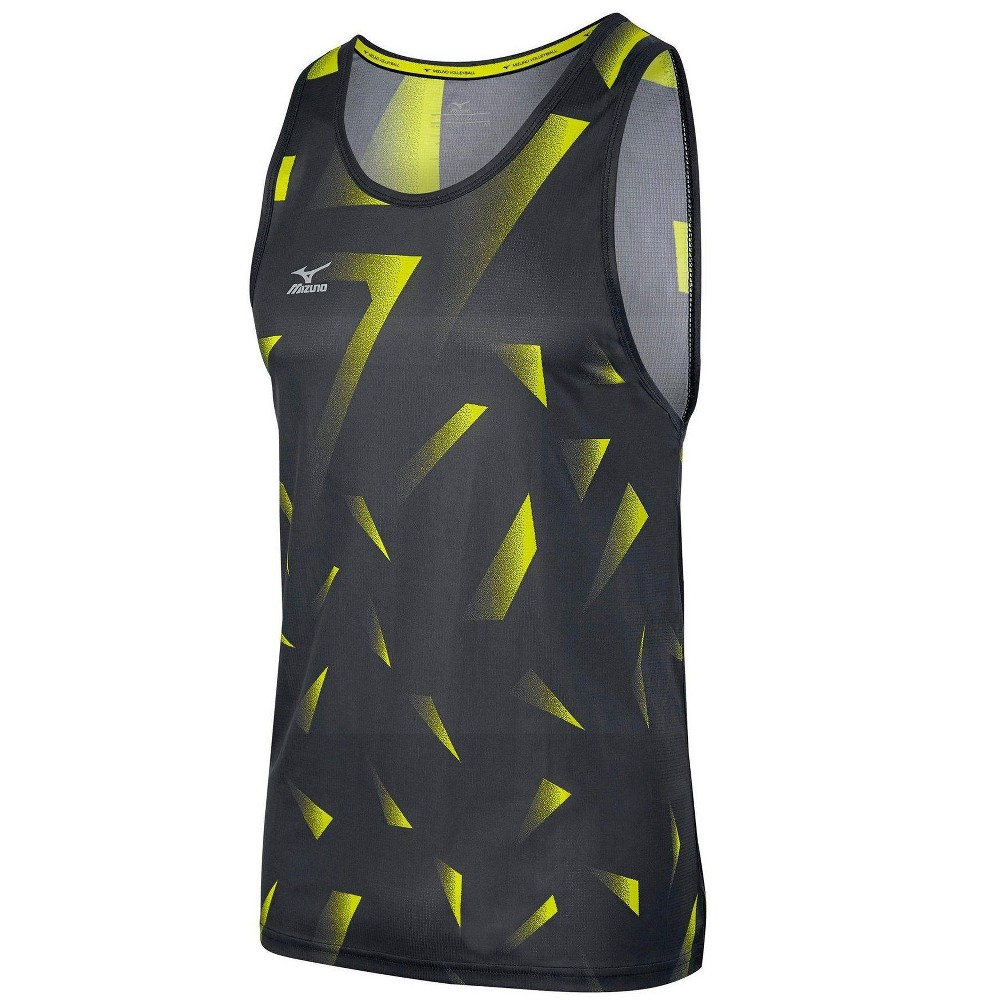 Mizuno Mens Volleyball Apparel Men S Volleyball Copa Tank Top 440535 Size Medium Charcoal Le Athletic Tank Tops Volleyball Outfits Volleyball Jersey Design