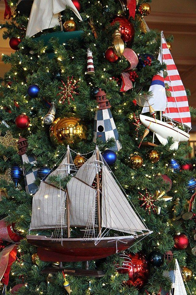Christmas Tree Detail At Disney S Yacht Club Resort Holiday Decor